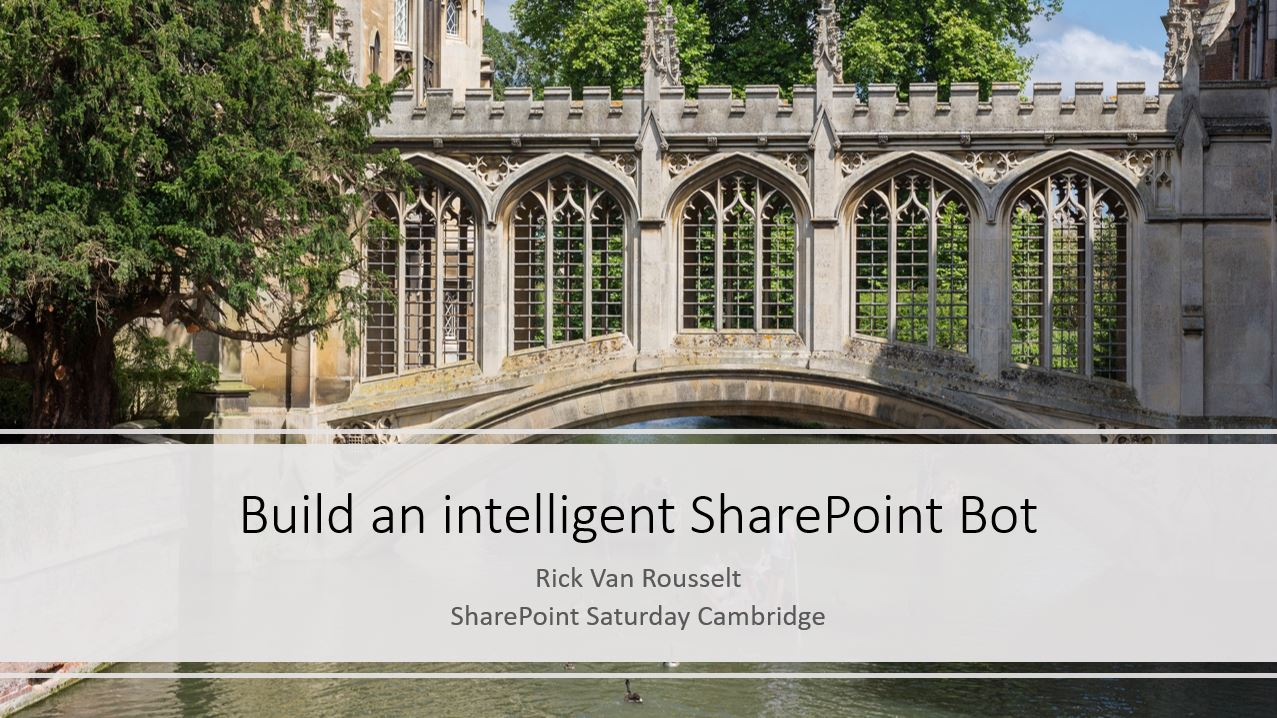 SharePoint Saturday Cambridge